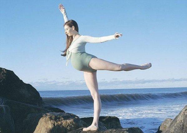 女芭蕾舞蹈家懷孕39周仍翩然起舞