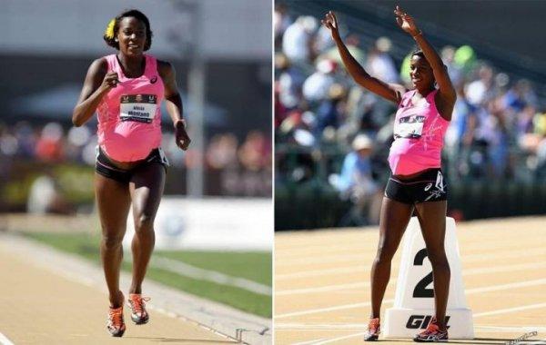 女運動員懷孕34周仍參加田徑比賽
