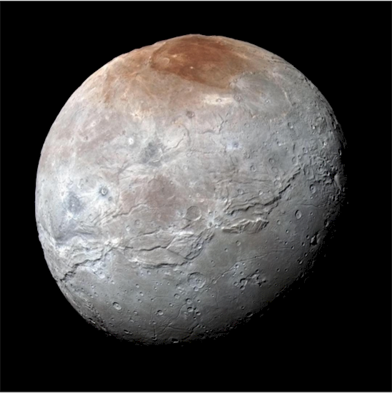 11. 冥王星的衛星卡戎, 以其特點讓美國宇航局的科學家感到驚訝。