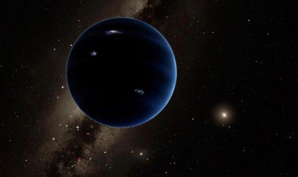 如果太陽系外圍確實有第九顆行星, 並且在距離那麼遙遠, 行星暗淡的情...
