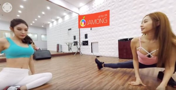在這360度全景健身視頻中,你可以透過拖動滑鼠在這虛擬三度空間中周圍實...