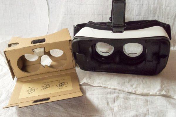 若你有360度全景的神器,體驗效果就更上一層樓了。左邊是Google Cardboard,...
