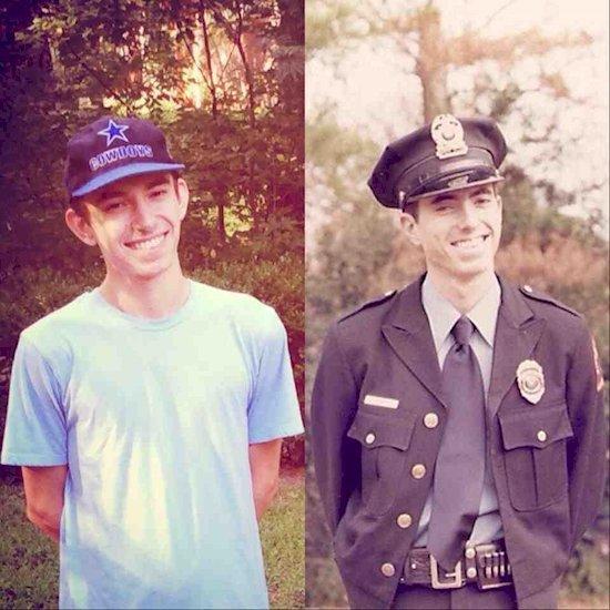 2. 左邊是2014年的兒子, 右邊則是1977年父親。