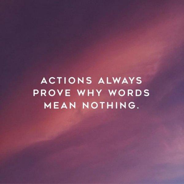 2. 多說真的沒有意義,行動就能證明這一切。