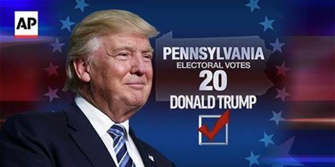 川普雖然選前不被看好,但是開票卻一路領先到最後,川普從一個政治素人...