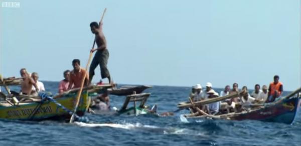 獵鯨族使用的木船