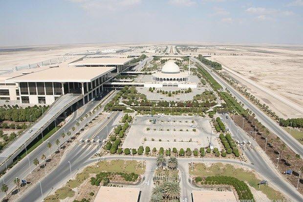 3. 沙特的法赫德國王國際機場涵蓋19.2萬英畝的土地 ,相等於一個小國家的...