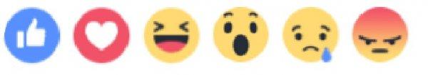 上述表情符號除贊之外,還包括愛心(love)、笑臉(haha)、驚奇(wow)、...