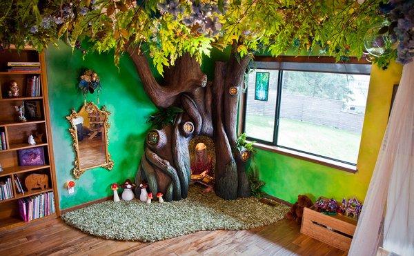 「我的女兒希望她的房間裡有一棵童話樹,讓她能坐在樹裡面讀書。」
