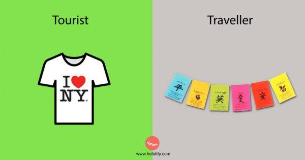 6) 觀光客 Vs 背包客
