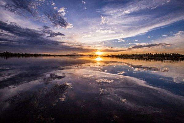 可可河的日落