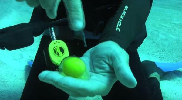 海洋學會成員用工具到切開雞蛋後,把兩邊的蛋殼分開,裡面的蛋黃竟然完...