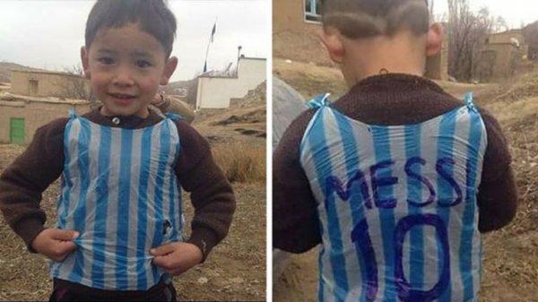 他的父親阿里夫艾哈邁德(Arif Ahmadi)告訴CNN, 兒子獲得了梅西的兩個簽名...