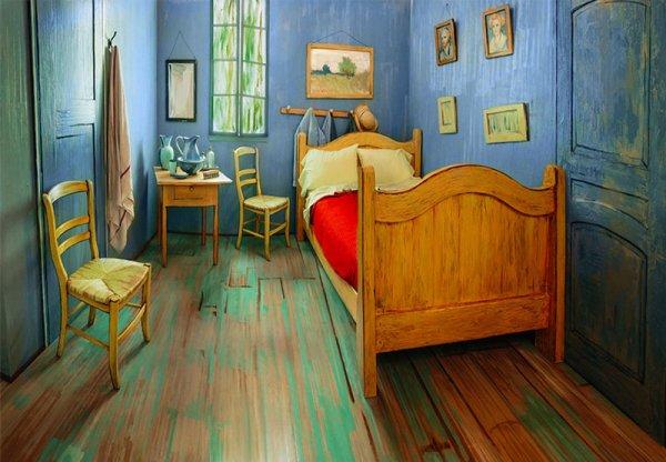 芝加哥藝術學院重現了梵谷著名的臥室, 並貼到很受歡迎的住宿網站Airbnb...