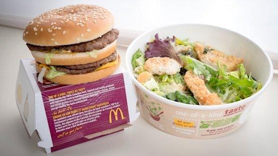 6. 麥當勞的甘藍沙拉含有比雙巨無霸更多的熱量