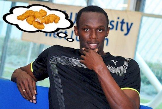 13. 博爾特在2008年北京奧運會期間吃了一千個麥樂雞