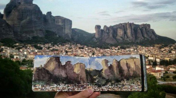 希臘邁泰奧拉岩石