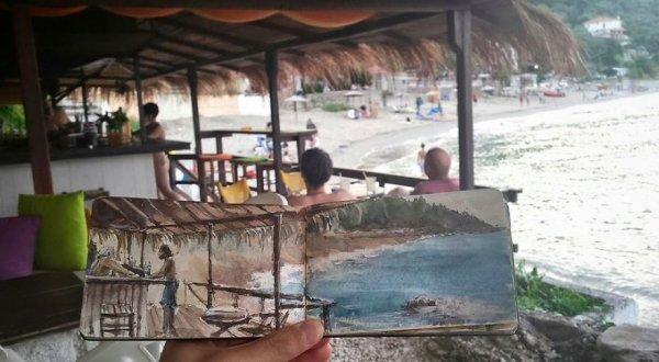 希臘海邊酒吧