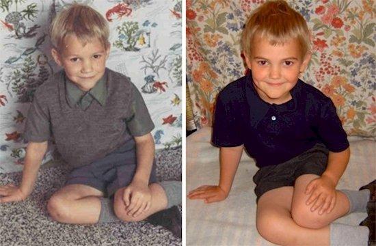 9. 兩個金髮複製人? 左邊是父親, 右邊是兒子。