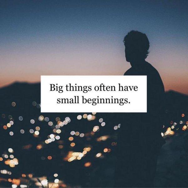 12. 再大的事情,都是由從小到開始。