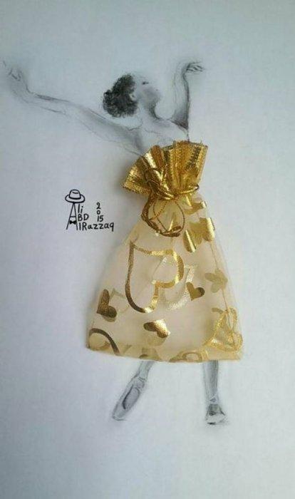 15. 金黃色的裙子