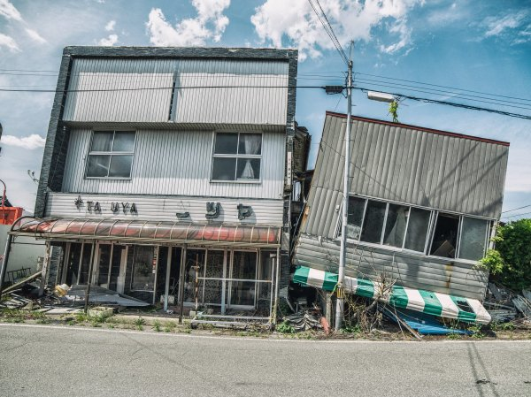 地震造成的房屋破壞。