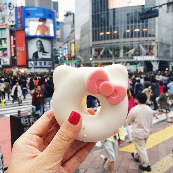 1.  Hello Kitty甜甜圈,日本