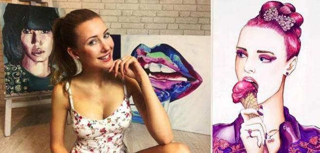 如此一位尤物女畫家,得到了越來越多的關注之後,漸漸的各路廠商也來找...