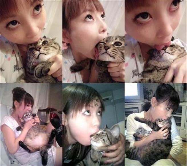 中川翔子愛貓成痴,曾上傳與貓咪的搞笑合照。