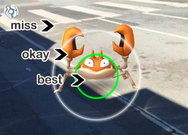 Q1:寶可夢的中間圓圈是幹嘛用的?<br /> 當《Pokémon GO》玩家按住寶貝球...