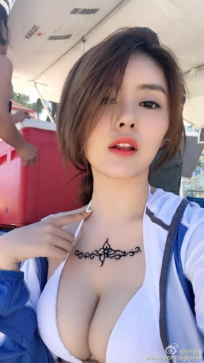 中國以遊戲直播為主的彈幕式直播分享網站《鬥魚TV》,其中女主播張琪格...