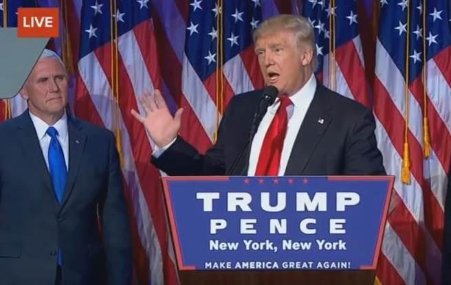 美國總統選舉進入尾聲,拿下最後關鍵一州賓夕法尼亞州的選票後,川普奪...