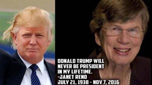 她曾經說過川普一定當不了總統,卻再選舉前一天過世