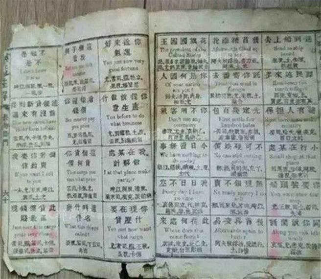 在教材開始還有一段「使用說明」:「漢字從右至左讀、英字從左至右讀」...