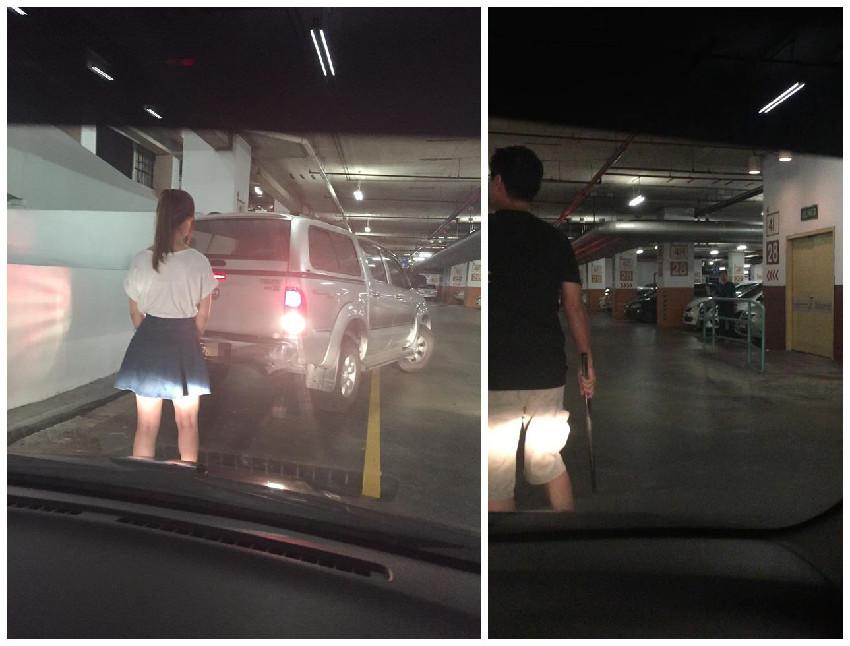 據網友表示,不久後即有一輛車子開過來,倒退停到女子霸占的停車位。之...
